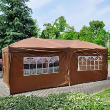 10x20 ft ez pop up wedding tent party foldable gazebo 3 walls eas