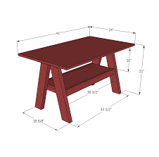 Woodworking Plans For Child S Table And Chairs by Ana White Kids Trestle Style Play Table Diy Projects