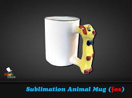 11oz sublimation animal mug fox magic transfer
