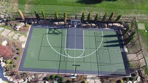 Basketball Backyard Why Choose A Sport Court Backyard Game Court Instead Of A Pool