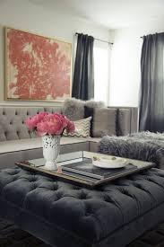 ottoman ideas for living room before after a fashion blogger turns her dark living room into a