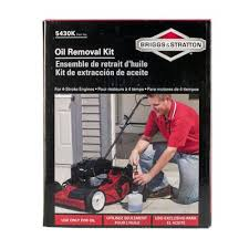 briggs u0026 stratton walk behind mower oil removal kit lowe u0027s canada