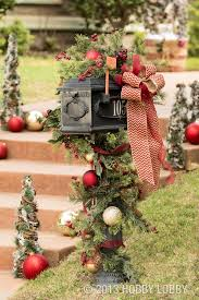 mailbox decorations curb appeal greenery and ornament