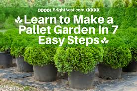 brightnest learn to make a pallet garden in 7 easy steps