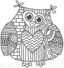 owl coloring page the green dragonfly colouring mandala pages