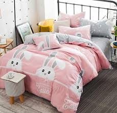 character rabbit bedding set teen kid cotton full queen
