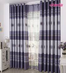 Plum Blackout Curtains Classic Grey And Dark Purple Polyester Blackout Best Bedroom Curtains