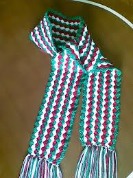 bufandas mis tejidos tejer en navidad manualidades navidenas bufanda mis diseños en crochet y más bufanda navideña