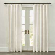 Black Ivory Curtains Curtain Panels And Window Coverings Crate And Barrel