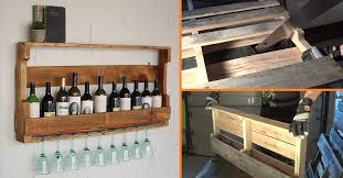Goods Home Design Diy Diy Wine Rack From A Wood Pallet Home Design Garden