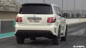 nissan patrol nismo interior 2017 nissan patrol nismo doing 14 mile drag race youtube