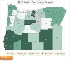 Oregon Country Map by Oregon Rankings Data County Health Rankings U0026 Roadmaps