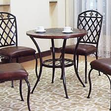 Ebay Dining Room Chairs by Bistro Pub Table Kitchen Dining Slate Wood Metal Su0521 Slate