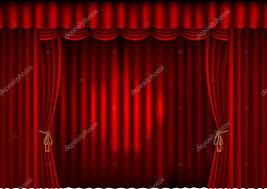 red curtains with spotlight u2014 stock vector unkreatives 5272956