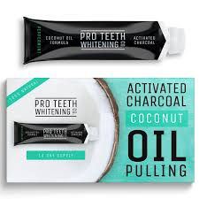 activated charcoal coconut oil pulling home teeth whitening