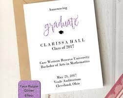 school graduation invitation etsy