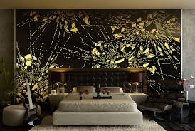 Yellow Feature Wall Bedroom Black And Yellow Room Design Affordable Interior Yellow Wall