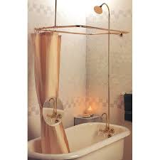 plumbing tub filler and tub shower enclosure metal shower