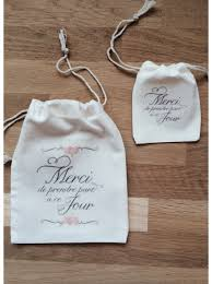 cadeau de mariage personnalis pochon sac en coton personnalisé pour emballage cadeau témoin