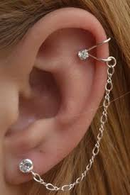 cuff earrings with chain diy ear cuff i like this jewelry jewelry ideas