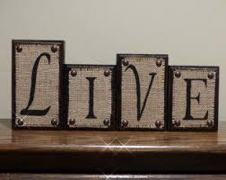 Decorative Letter Blocks For Home Word Blocks Etsy