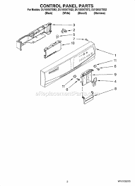 whirlpool du1055xtss2 parts list and diagram ereplacementparts com