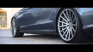 bagged mercedes cls mercedes benz cls 550 vossen 20 u0027 u0027 vfs2 concave wheels rims youtube