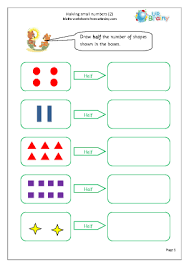 fraction worksheets for year 1 age 5 6