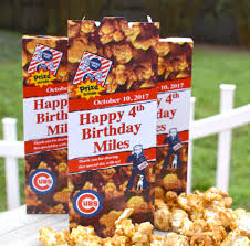 15 personalized cracker boxes baseball birthday party