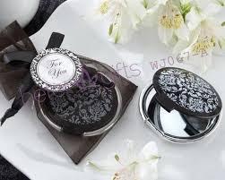 free wedding gifts free shipping 100pcs black pocket mirror wedding souvenir