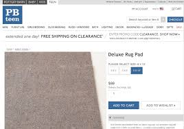 Pottery Barn Rug Pads Different Prices Across Different Pottery Barn Divisions
