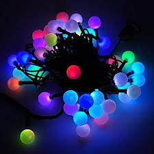 led color changing globe string lights with remote amazon com led color changing linkable 16 feet christmas light
