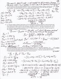 calorimetry worksheet and answers calorimetry problems worksheet