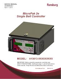 ransburg micropak 2e power supply service manuals