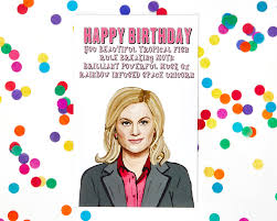 parks and rec birthday card happy birthday accessories