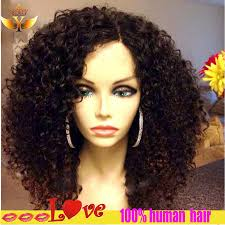 malaysian curly full lace wig short human hair curly lace