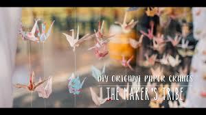 diy origami paper cranes youtube