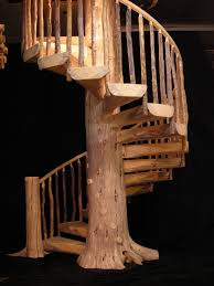 custom wood stairs gallery log stairs