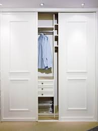 closet organization ideas with sliding closet doors also color