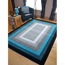 modern silver floor l small extra large sahara teal silver grey border carved quality