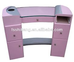wholesale salon furniture pink nail manicure table buy pink nail