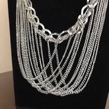 fashion jewelry silver necklace images Silver tone statement necklace interwoven chains poshmark jpg