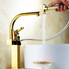 Pull Out Spray Kitchen Faucets Quality Polished Brass Kitchen Faucets Pullout Spray 122 99