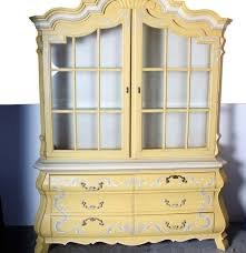 Drexel Heritage China Cabinet French Provincial Style Two Piece China Cabinet By Drexel Ebth