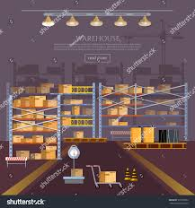 Warehouse Interior by Warehouse Interior Box On Rack Warehouse Stock Vector 519762052