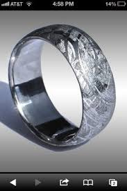 epic wedding band dinosaur bone ring gibeon meteorite wedding band with 14k gold