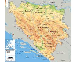 Physical Map Of Europe by Maps Of Bosnia And Herzegovina Detailed Map Of Bosnia And