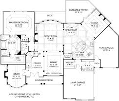 rear view house plans colonial house plan with 4 bedrooms and 4 5 baths plan 7395