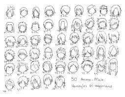hhort haircut sketches for man top image of anime hairstyles male chester gervais