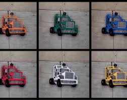 Semi Ornaments Mack Truck Ornament Etsy